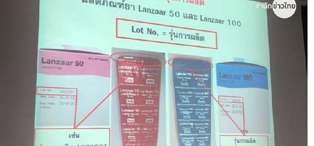 ประชาสัมพันธ์เรื่องยาลดความดัน Losartan ชื่อการค้า LAZAAR 50 และ LAZAAR 100
